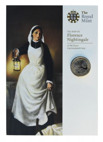 2010 £2 Florence Nightingale Brilliant Uncirculated pack